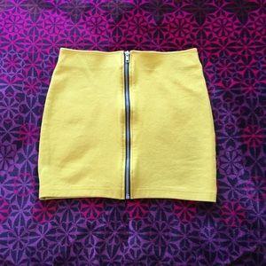 Full Zip Mini Skirt